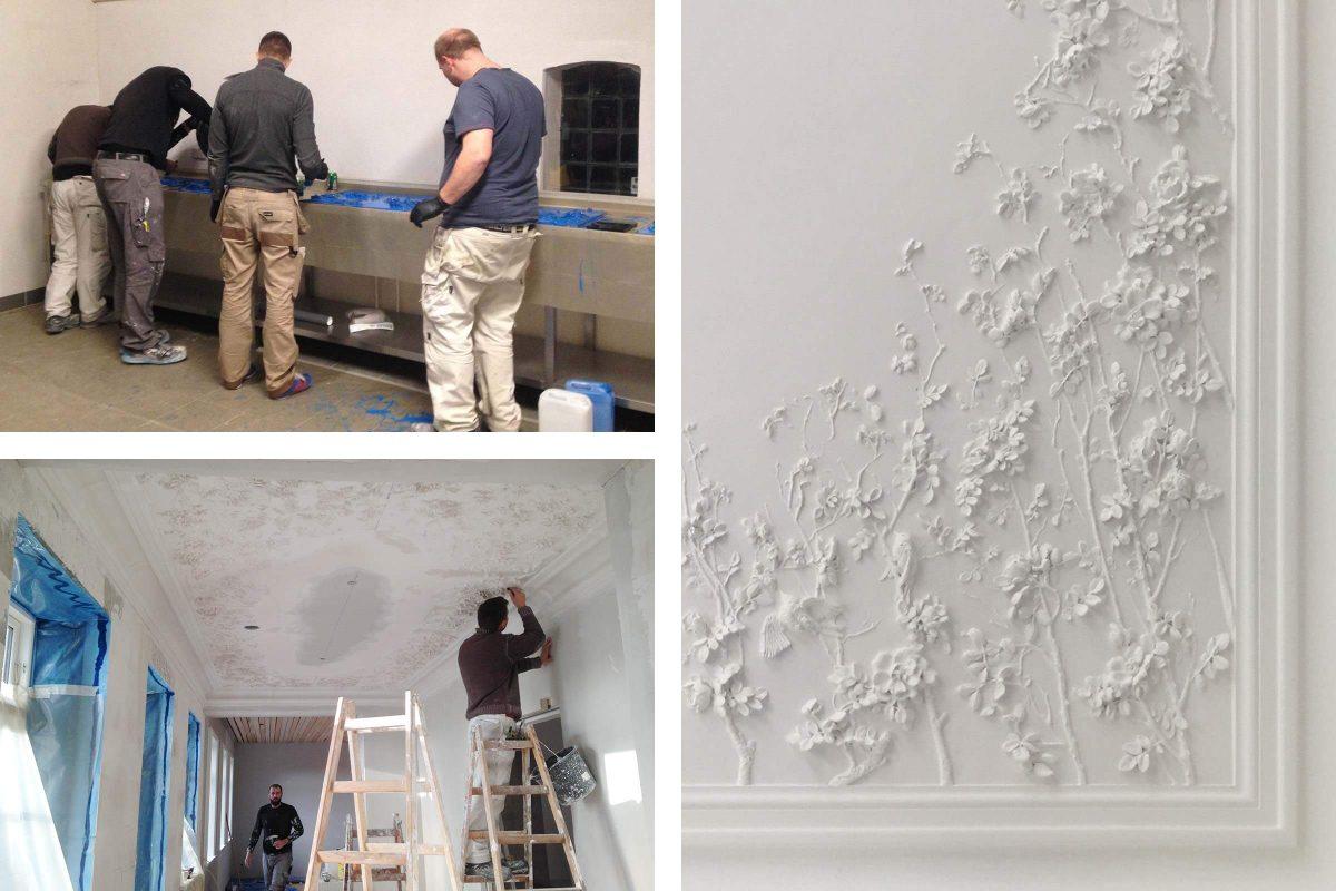 claus lind © modelling stucco stucco worker peter moeller exclusive craftsmanship