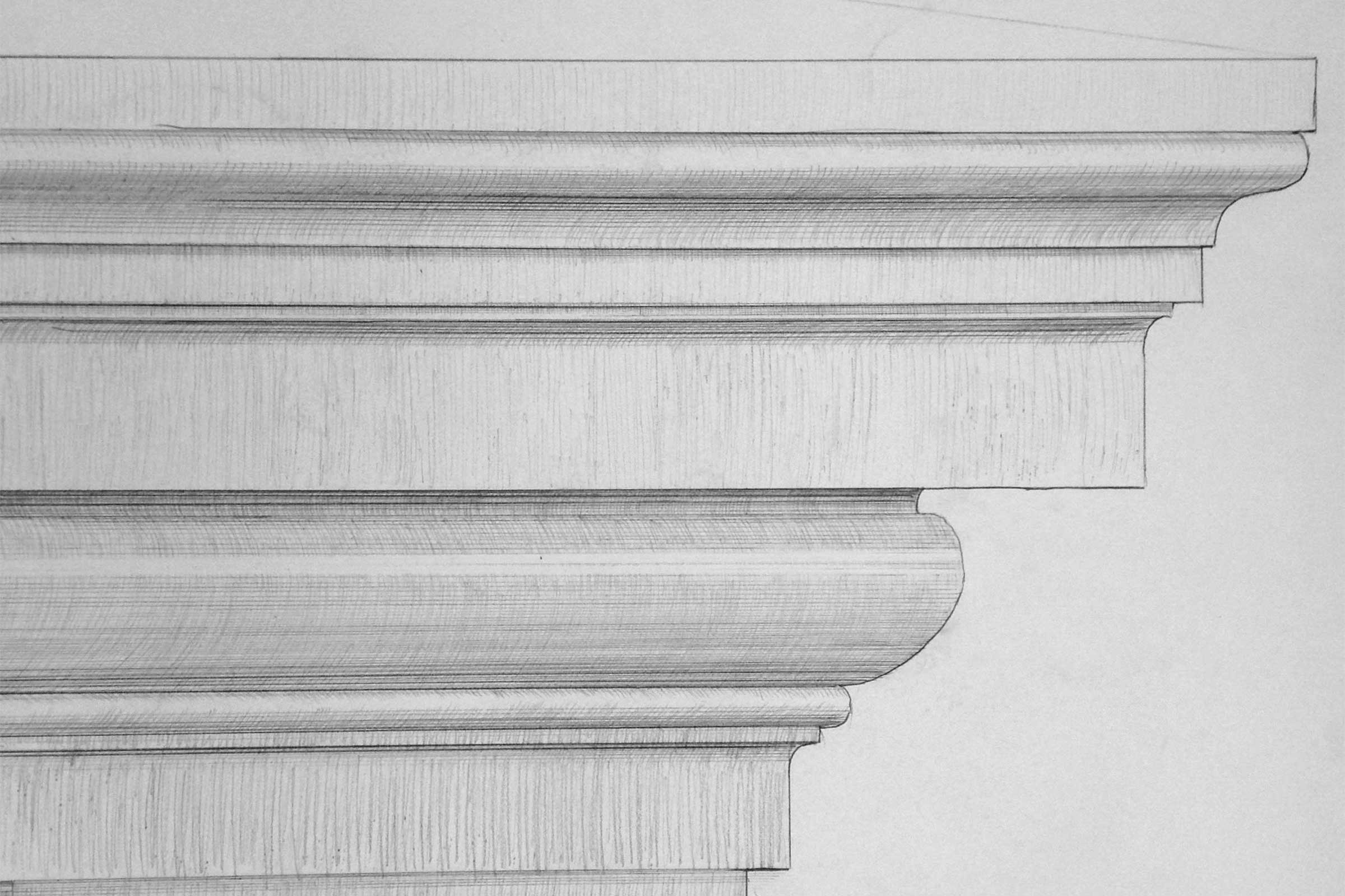 claus lind © sketches cornice gjersholt manor classical architecture stucco
