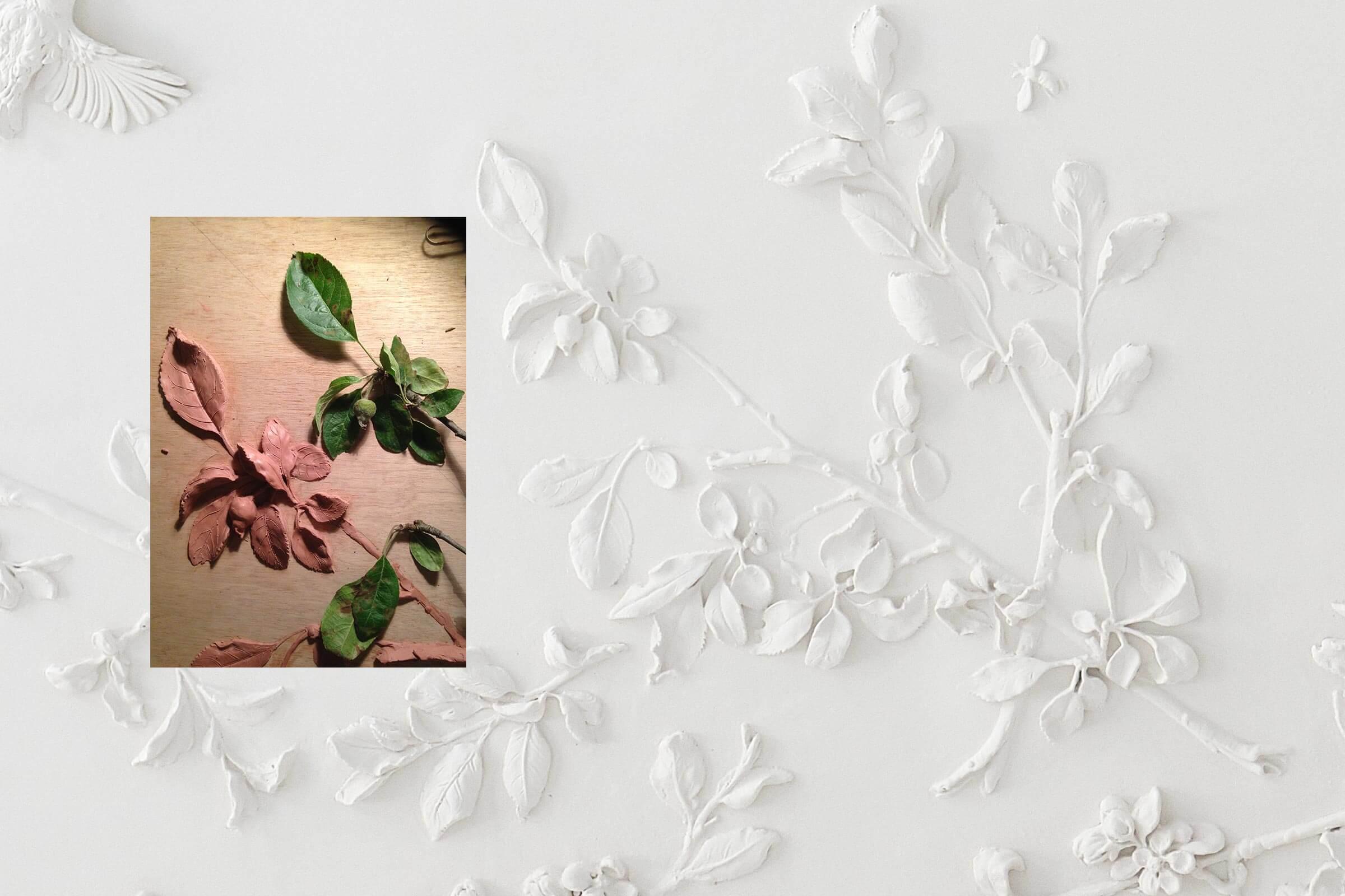 claus lind © modelling stucco worker stucco ceiling rosette stucco plaster craftsmanship